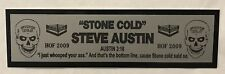 Stone Cold Steve Austin nameplate for signed robe trunks photo or display case