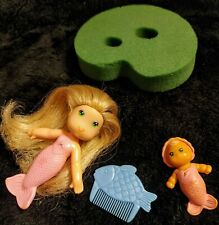 VTG Kenner 1st Edition SEA WEES 'N BABIES Sandy Baby Star Comb Lily Pad COMPLETE