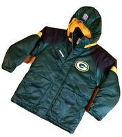 Deadstock Vintage STARTER Green Bay Packers PRO LINE Winter Jacket M Full Zip