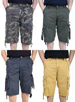 BROOKLYN Mens Cargo Board Shorts Beach Wear Side Pocket Combat Style Holiday