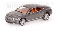 Bentley Continental Gt 2008 Grey Metallic 1:64 Model MINICHAMPS