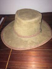 AUSTRALIAN BROWN LEATHER BUSH HAT (BUTE ) XL