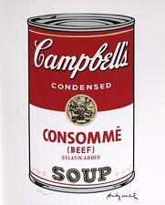 Warhol Campbell's Soup-consomé (firmado numerados cmoa sello)