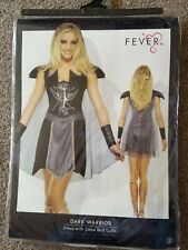 Fever Dark Warrior  Costume ~ Adults ~ Roman Gladiator ~ Fancy Dress ~Small