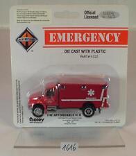 Boley 1/87 no. 4122 Emergency International Ambulance AMBULANZA ROSSO OVP #1616