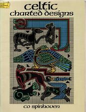 Celtic Charted Designs by Co Spinhoven (Dover Needlework paperback, 1987)