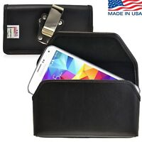 Turtleback Samsung Galaxy S5 Leather Pouch Holster Metal Belt Clip Phone Case