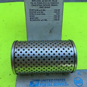 Plymouth, Chrysler, Ford,  Champ fuel filter, G-6, 1958  to 1967.   Item:  7754