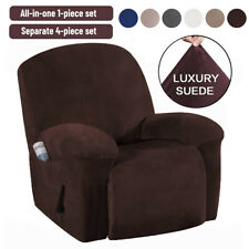Suede Stretch Recliner Chair Slipcover Armchair Seat Cover Waterproof Protector