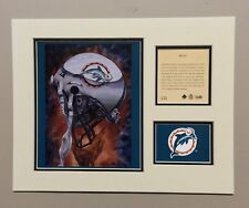 Miami Dolphins 1994 Matted Football Helmet Lithograph Print