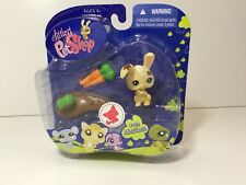 Littlest Pet Shop #972 Messiest Bunny With Carrots LPS Sealed in Pkg 2008