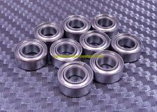 "[QTY 10] SR156ZZ R156zz (3/16"" x 5/16"" x 1/8"") 440C Stainless Steel Ball Bearing"