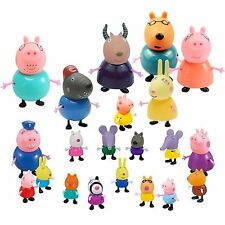 25 Pcs Peppa Pig Family&Friends Emily Rebecca Suzy Action Figures Toys Kids Gift