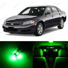 11 x Green LED Interior Light Package For 2006-2012 Chevrolet Chevy Impala
