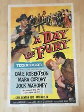 """A DAY OF FURY 1956 Original One Sheet Movie Poster 27""""x41"""" Technicolor"""