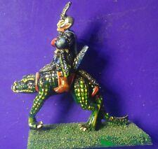 #D C21 Dark elf cold one rider citadel  GW games workshop elves painted