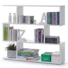White Gloss Ziggy Short Open Bookcase Room Divider Shelf Shelving Display