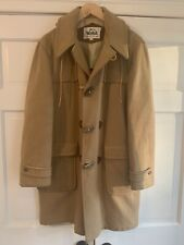 70s Vintage Woolrich Camel Wool Duffle Coat Jacket Horn Toggle Mens 42 M L