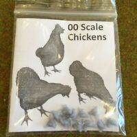 00 Scale Chickens - Model Raiway Farm Animals Resin Wargame Scenery oo/ho 1/76