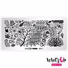 A011 Leaves Are Fall-ing Stamping Plate For Fall Autumn Stamped Nail Art Design