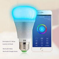LED Wifi Glühbirne E27 7W Birne Leuchtmittel Kabellos Fernbedienung für Handy
