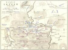 BATTAGLIA DI LUTZEN. 2nd MAGGIO 1813. Germania. GUERRE NAPOLEONICHE 1848 Vecchio Antico Mappa