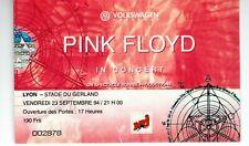 PINK FLOYD used concert ticket - LYON - STADE DU GERLAND - 23 SEPTEMBRE 94