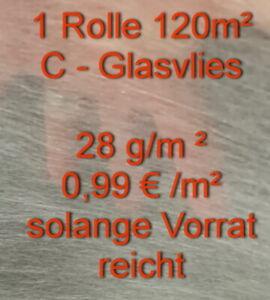 1 Rolle 120m² Oberflächen Vlies 28g/m²,VERSANDFREI! Micolith ,GFK, Glasgewebe