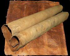 TORAH SCROLL BIBLE VELLUM MANUSCRIPT LEAF 350-400 YRS OLD MOROCCO Deuteronomy