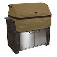 Hickory Heavy-duty Patio Built In BBQ Grill Top Cover, Medium, Tan NEW