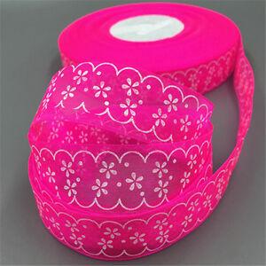 10/100 Yards  25mm Satin Edge Sheer Organza printing Craft Wedding decoration