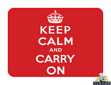 Ultimate Glass Chopping Board - Keep Calm and Carry On Kitchen Worktop Saver WSP
