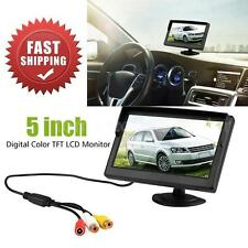 """5"""" TFT Car Rear View Monitor For Reverse Backup Camera 2 Video Input 2 Holder"""