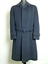 Hammersley of England Men Blue Knee Length Warm Winter Wool Cashmere Overcoat XL
