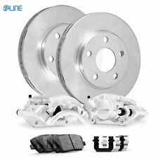 For 1982-1993 Dodge W100, W150 Front Calipers+Brake Rotors+Ceramic Pads+Hardware