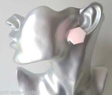 20mm 100% plastic - hypoallergenic hexagon shape stud earrings, 3 colour options