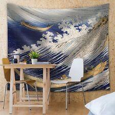 Katsushika Hokusai - Ocean waves - Woodblock Print - Fabric Tapestry- 51x60