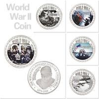 WR 5X Churchill Silver Coin World War WW2 Battle Campaign Memorabilia Collection