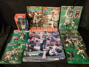 Poster SI STARTING LINEUP DAN MARINO MIAMI DOLPHINS Lot Doubles Elway Bobblehead