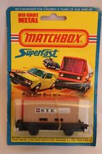 VINTAGE 1976 NOS LESNEY MATCHBOX SUPERFAST NO.25 FLAT BED w/CONTAINER- ON CARD