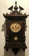 Antico orologio a pendolo in legno - primi '900 - carillon