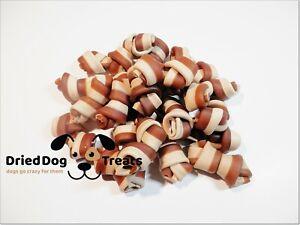 [500g] A215 Dental Bones White and Maroon - chews, treats, snacks - Doggy Treats
