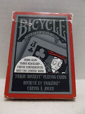 Bicycle 808 Tragic Royalty Single Deck Playing Cards Glow Under Blacklight 2008!
