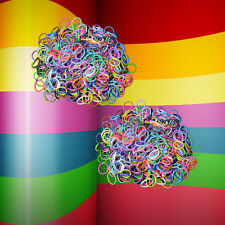 Lot of 1200 w/ S-clips NEW Loom Mixed MULTI RAINBOW COLOR Rubber Bands Refill