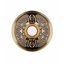 NEW Hampton-Bay Wired Home Doorbell Door-Bell Push-Button - Aged Brass - Lighted