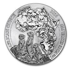 2016 Rwanda 50 Francs 1 oz Silver African Wildlife Series Meerkat (BU) SKU 0491