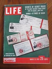 Life Magazine Varied Identities of Working Red Agent Secret Police March 1959