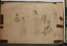 Dessin Original  Etude ALFRED GREVIN XIXe siècle AG15