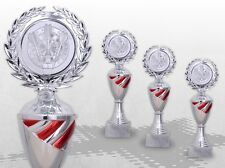 3er Pokale Pokalserie TOP SILVER RED mit Gravur günstig kaufen TOP ANGEBOT