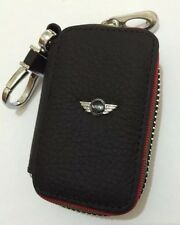 Mini Cooper en cuir véritable Key Cover Case Holder ring chain fob!